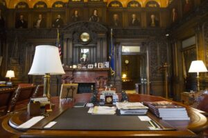A look inside the governor's office